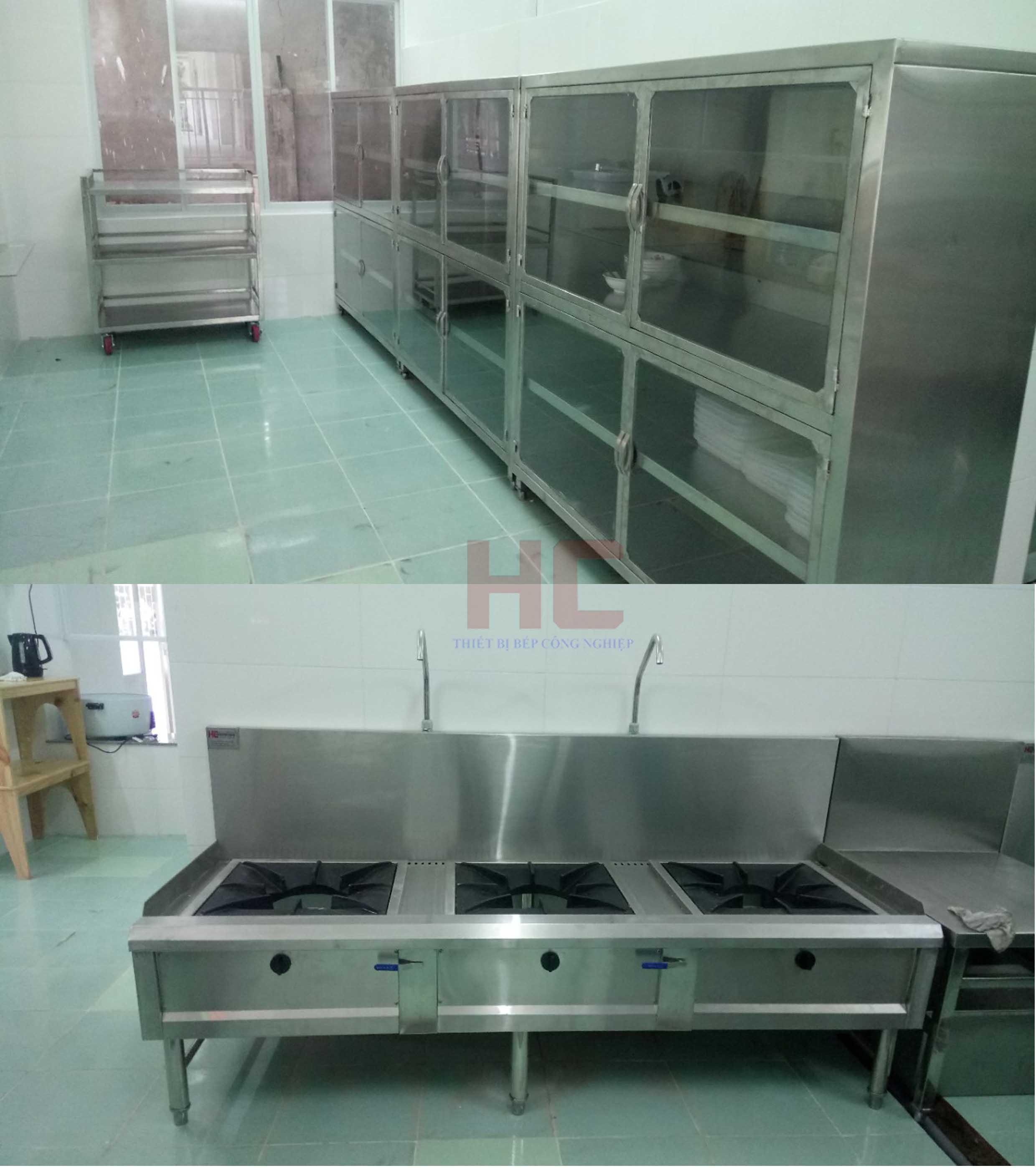 Trường mầm non iSchool Ninh ThuậnKhu lưu trữ khô và một phần căn bếp nấu