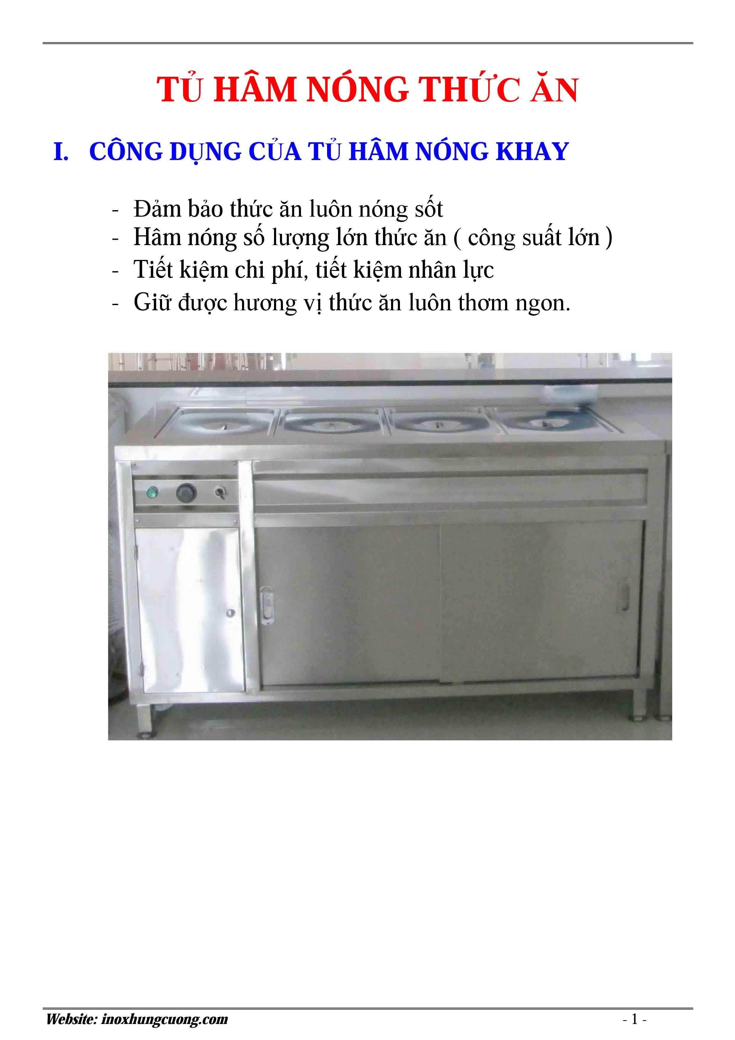 Tủ hâm nóng thức ăn 5 khay