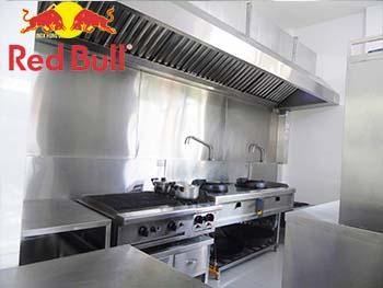 Tư vấn thiết kế xây dụng mô hình bếp công nghiệp cho Red Bull Việt Nam