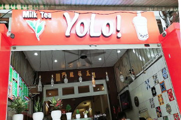 Quầy pha chế trà sữa inox cho thương hiệu trà sữa Yolo