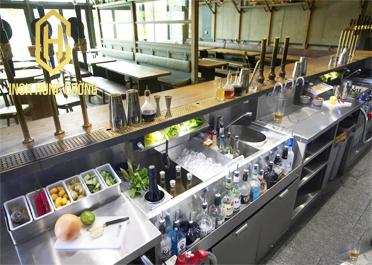 Một số cách setup quầy bar inox đơn giản và tinh tế