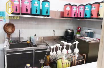 Thiết kế và cung cấp thiết bị quầy trà sữa inox cho CHA MICHI