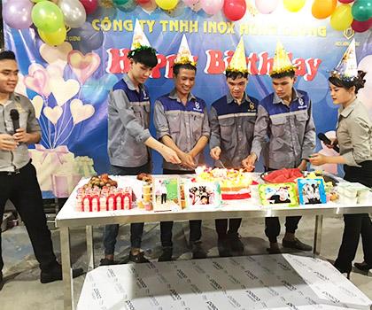 Inox Hùng Cường tổ chức sinh nhật tháng 5/2020 cho cán bộ nhân viên