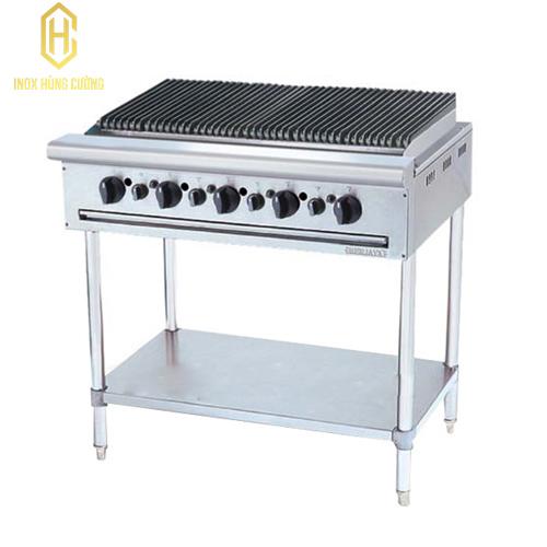 Bếp nướng than nhân tạo 5 họng đốt chân cao