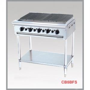 Bếp nướng công nghiệp 5 họng đốt chân cao