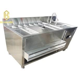 Bếp công nghiệp Hùng Cường - Chuyên thiết kế quầy bar trà sữa inox