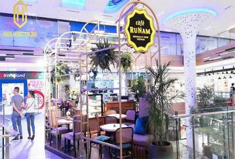Bếp nhà hàng, quầy bar inox Cafe RuNam