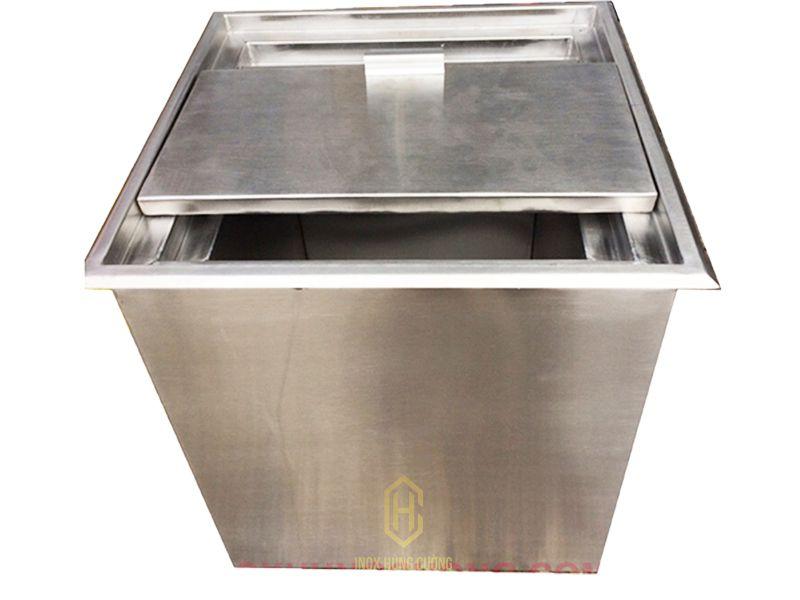 thùng chứa đá inox