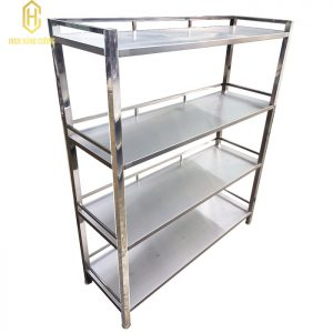 Kệ phẳng inox 4 tầng