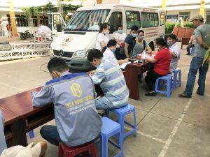 Chương trình hiến máu nhân đạo của cán bộ nhân viên Inox Hùng Cường tháng 04/2021
