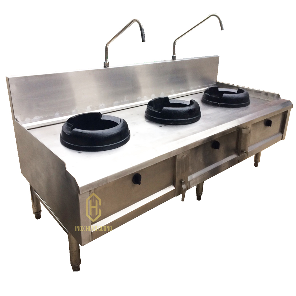Bếp Á 3 họng đốt