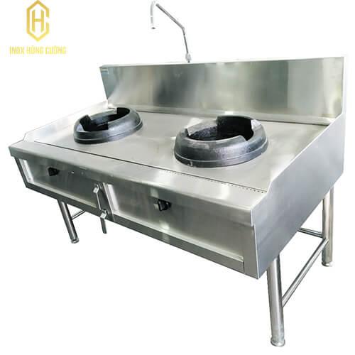 Bếp công nghiệp 2 họng gang