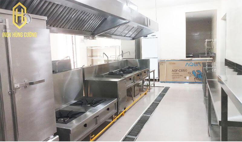 Kích thước bếp công nghiệp